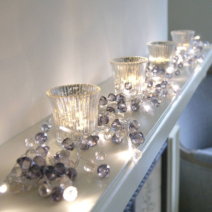 Graphite colored crystal light garland...gorgeous!