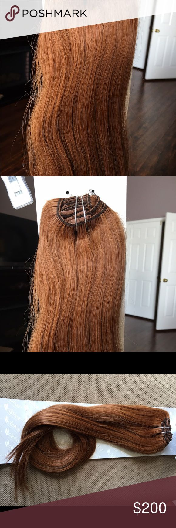 """Red Clip in Hair Extensions Theses 24 in 100% real Human Hair Extensions are 120g and have 8 pieces. Show off your new and alive! There are two 8"""" clips, two 6"""", two 4"""", and two 2"""" clips. Accessories Hair Accessories"""