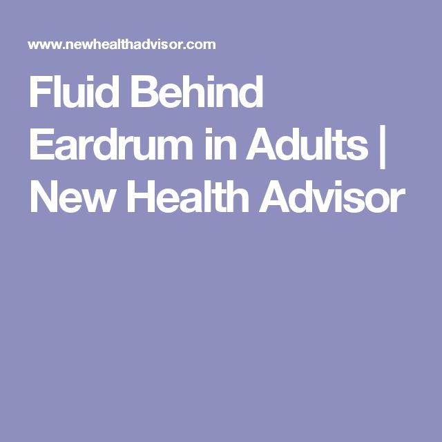 Natural Treatment For Fluid Behind The Eardrum