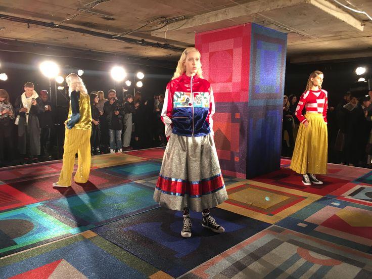 Amazing up and coming designer Sadie Williams at London fashion week.