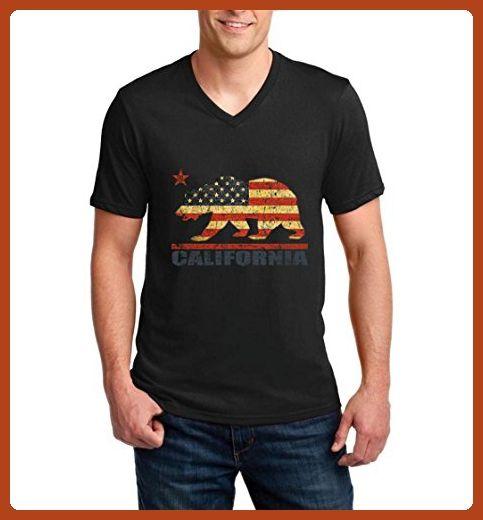 Ugo California Americana Bear Gift for Hollywood CA USA Flag 4th of July {GARMENT_SHORT} - Animal shirts (*Partner-Link)