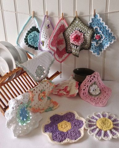 Watch Floral Dishcloth Set Crochet Pattern Review! Sizes: Lacy Violets - About…