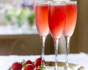 Campari and Prosecco based drink with Strawberries and Elderflower! A real summer time treat!
