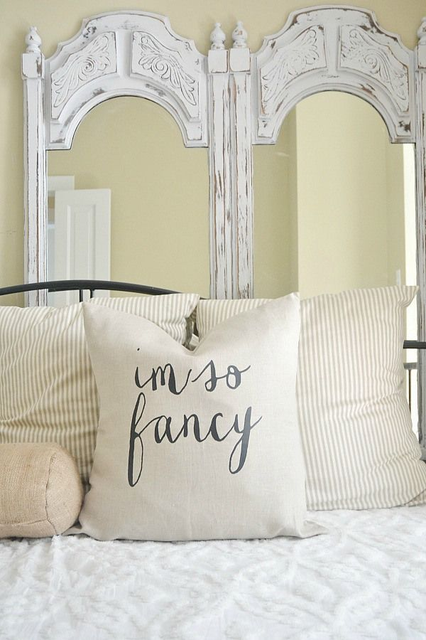I'm so fancy pillow. Neutral, fun, & lovely!