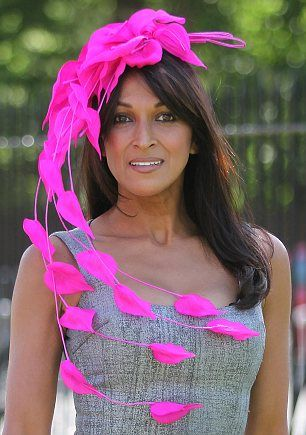 Royal Ascot Ladies Day Hats - this color is SO great on her!