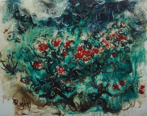 Red Roses by Affandi