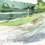 Journal Sketches, plein air by Cathy (Kate) Johnson