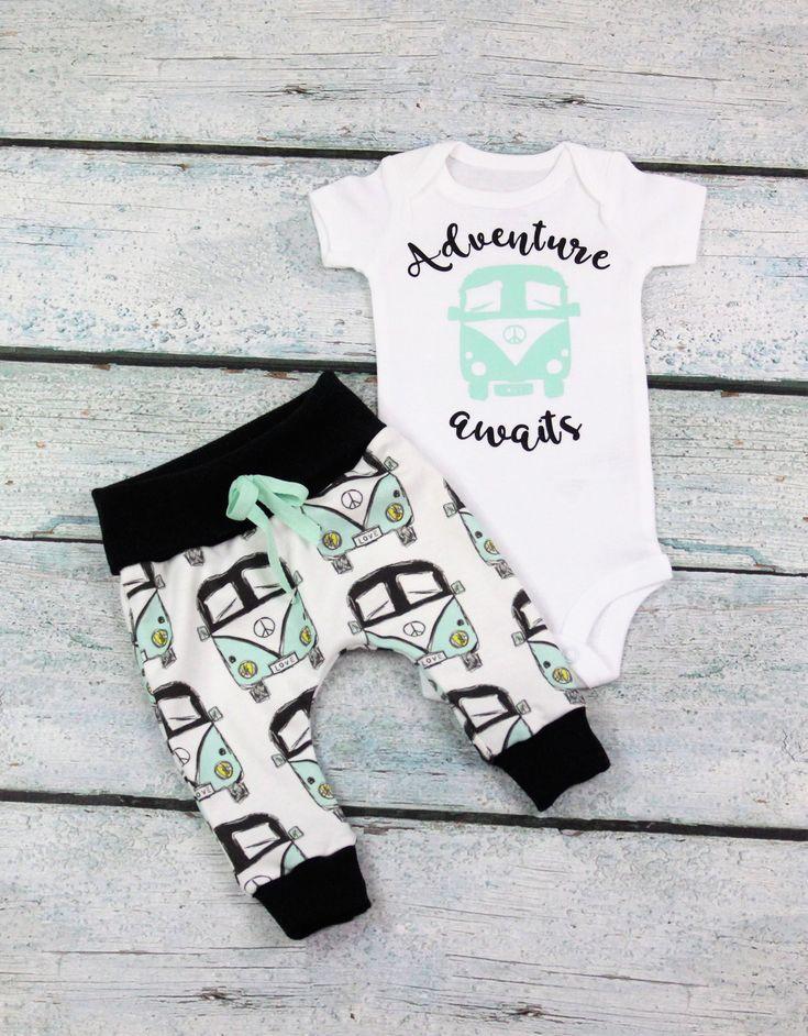 newborn baby boy home coming set/adventure awaits/baby girl home coming set/ gen… – Bam