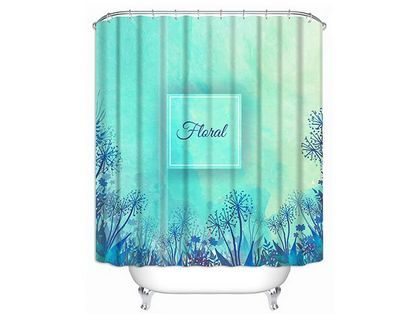 Custom Fabric Shower Curtains, Blue Shower Curtains, Personalized Shower $49.00