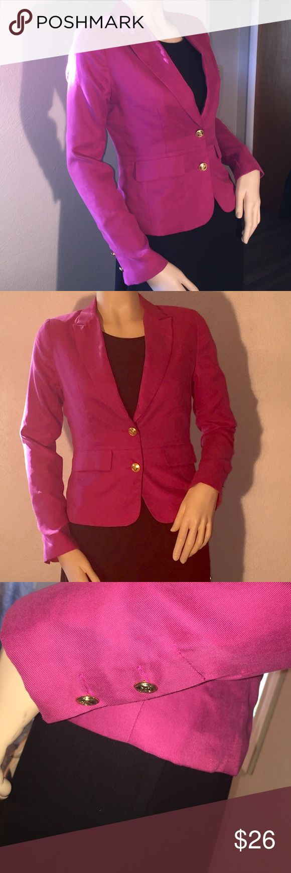 Cynthia Rowley Hot Pink Blazer Ladies hot pink blazer size Small by Cynthia Rowley. Jackets & Coats Blazers