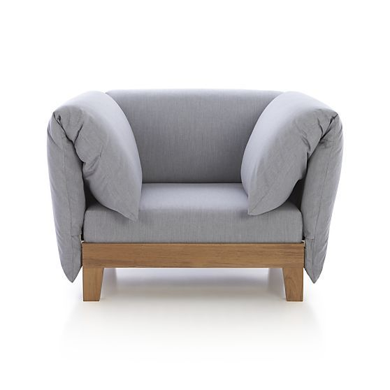 Party Outdoor Lounge Chair with Arm Cushions | Crate and Barrel. Decor. Furniture. Design.