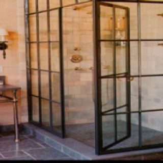 I want window pane shower doors!
