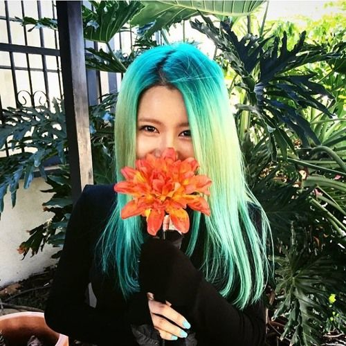 """It was just a shade of her side profile back then.That green hair looked so stunning. She was singing """"Manne mannequin, money money…"""
