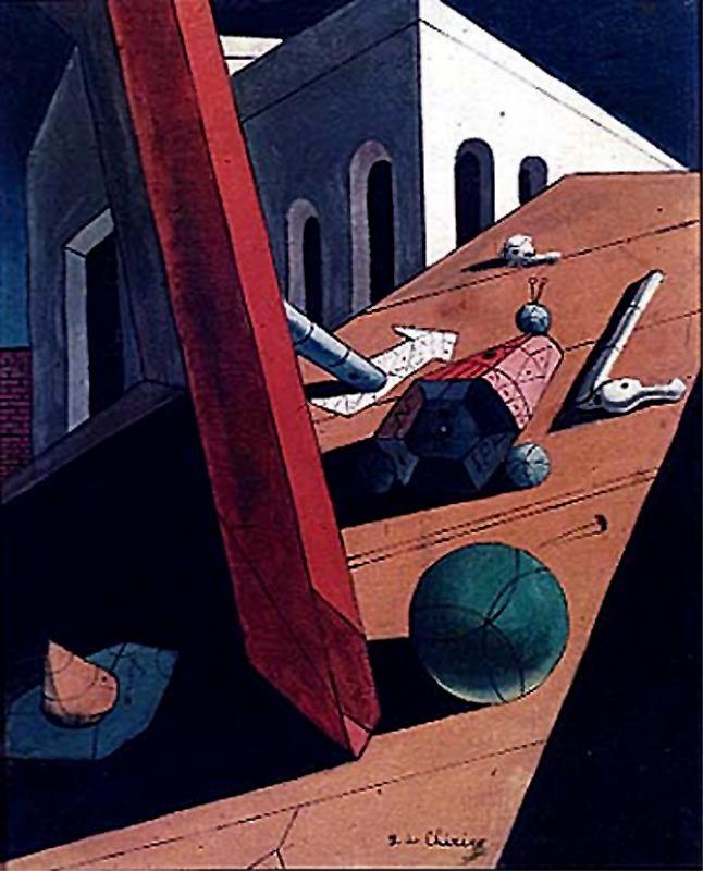 The Evil Genius of a King, 1915 - Giorgio de Chirico - WikiArt.org
