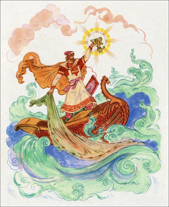 картинка по былине садко рукописная харитоновская