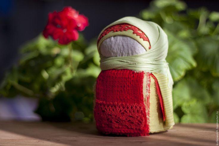 Купить Кукла народная Крупеничка Герань - ярко-красный, народная кукла, крупеничка, зерновушка, женщина