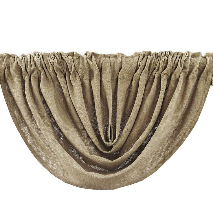 Burlap Natural Balloon Curtain Valance