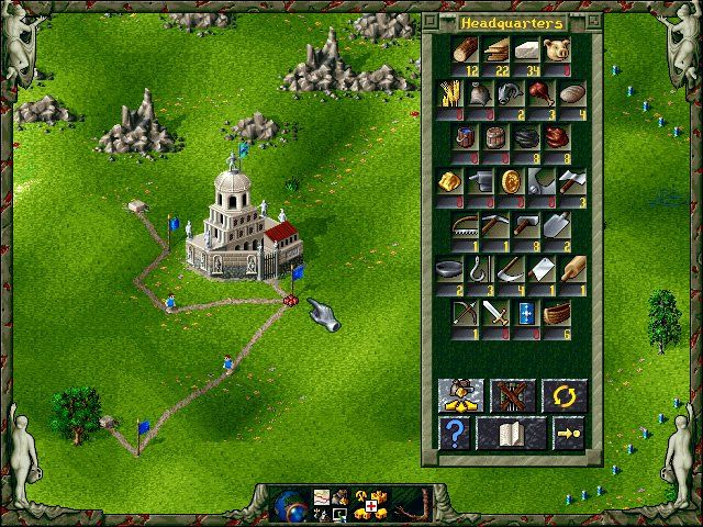 Blue Byte Software released The Settlers II: Veni, Vidi, Vici in the year 1996; it's an old  strategy game, part of the The Settlers series.