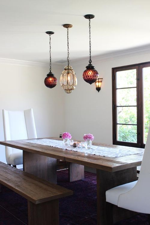 Pendant lighting modern farm table our home decor ideas pinterest - Lovely dining rooms with hanging lights ...