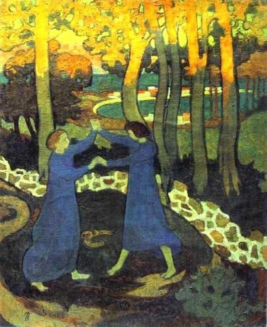 Maurice Denis - Jacob's Battle with the Angel (ca. 1893)