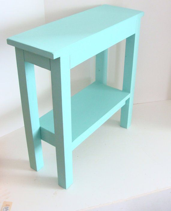 End Table Narrow Side Table Chairside Tables Wood Table Etsy