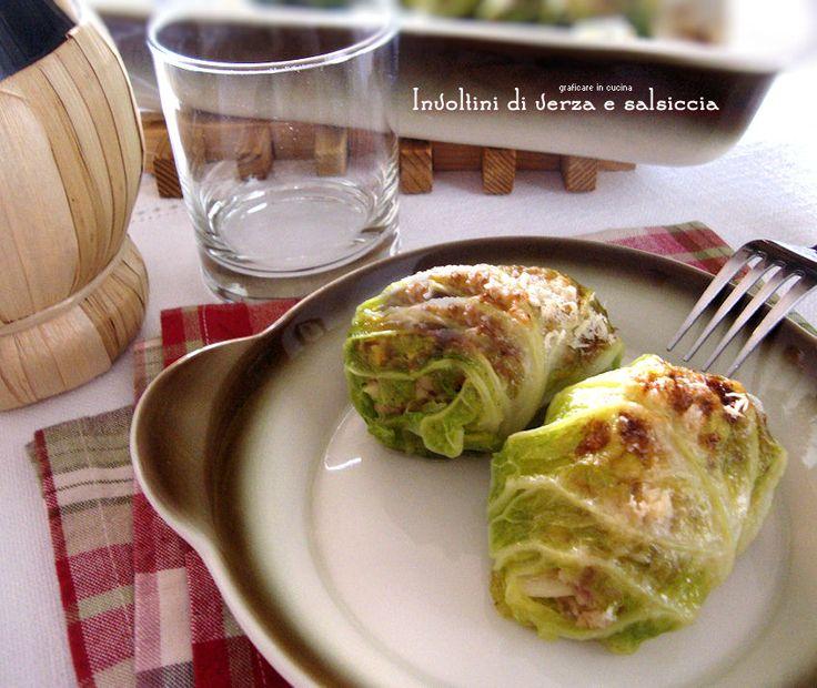 Involtini di verza e salsiccia http://blog.giallozafferano.it/graficareincucina/involtini-di-verza-e-salsiccia/