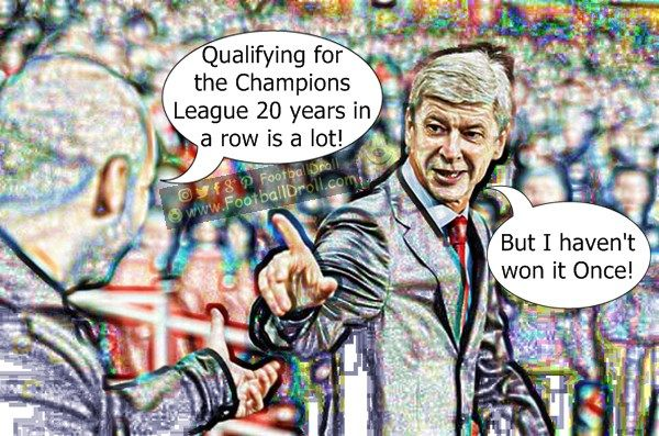 Pep Guardiola Praises Arsène Wenger for Qualifying to the CL 20 years in a Row #Wenger #Guardiola #Arsenal #Liverpool #Mourinho #Chelsea #EPL #ManCity #Messi #Barcelona #Ronaldo #Neymar #FCBarcelona #Jokes #Comic #Laughter #Laugh #Football #FootballDroll #Funny #CR7 #FCBLive #HalaMadrid #ForçaBarça #LaLiga #RealMadrid