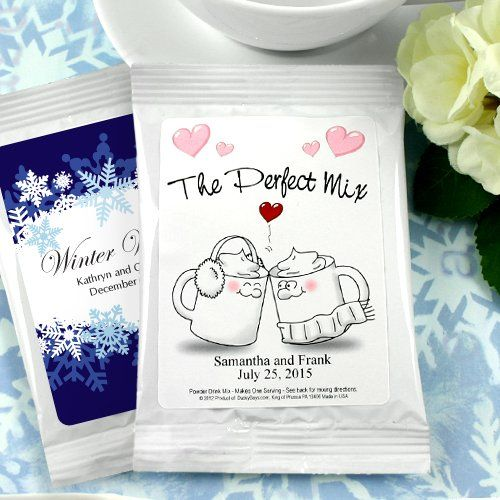 Kissing Winter Mugs Wedding Hot Chocolate Mix