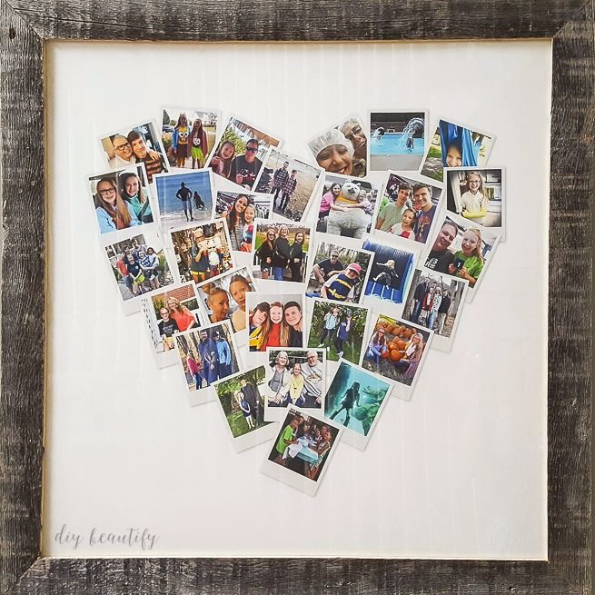 Heart Shaped Photo Collage Poster Rye Movie Sub Indo