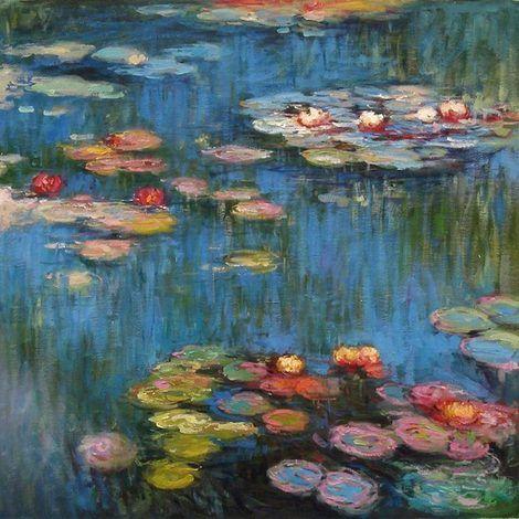 Claude Monet, Water Lilies(l) on ArtStack #claude-monet #art