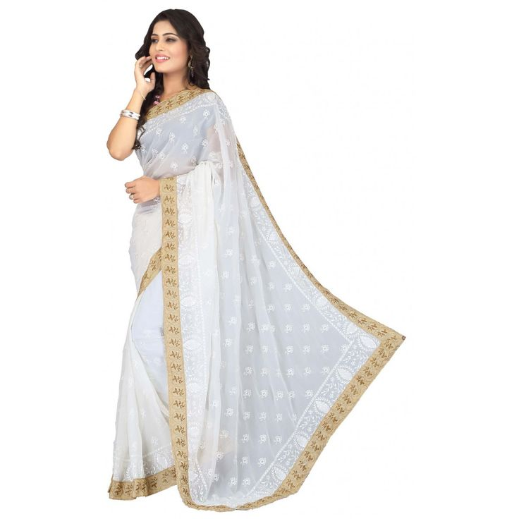 B-Store White Bollywood Collection Attractive and exclusive saree