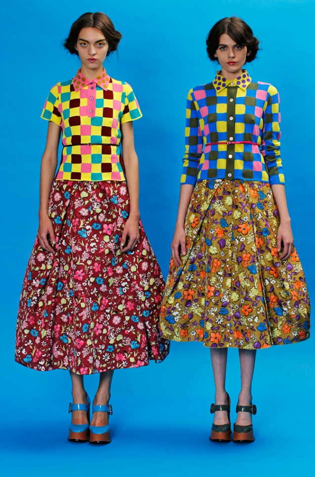 marc jacobs: Floral Patterns, Blue Sky, Style, Color, Marc Jacobs, Resorts 2013, Fashion Trends, Jacobs Resorts, Patterns Mixed