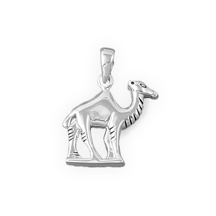 """Sterling Silver Camel Pendant 18MM (Free 18"""" Chain)"""