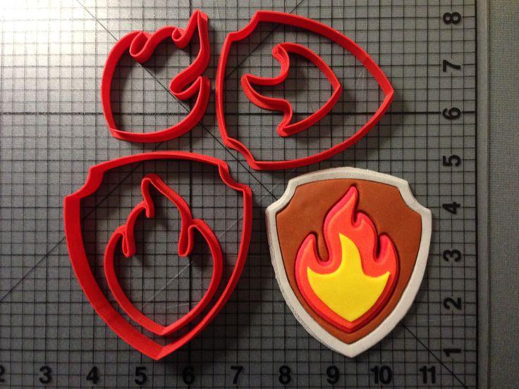 Paw Patrol – Marshall Fire Badge Cookie Cutter Set JBCookieCutters.com