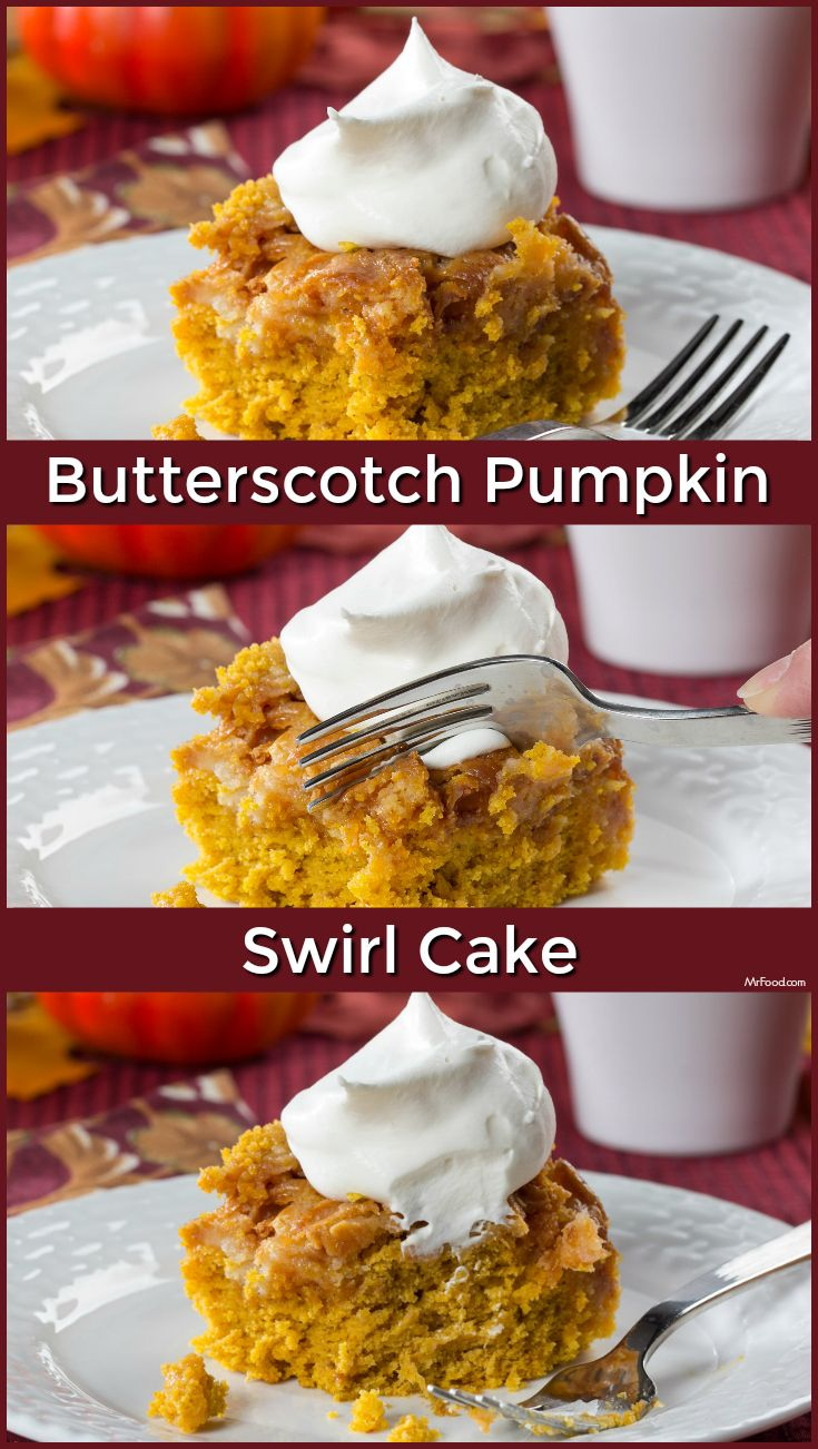 ... swirl cake made with cream cheese and pumpkin is just for you. Yum
