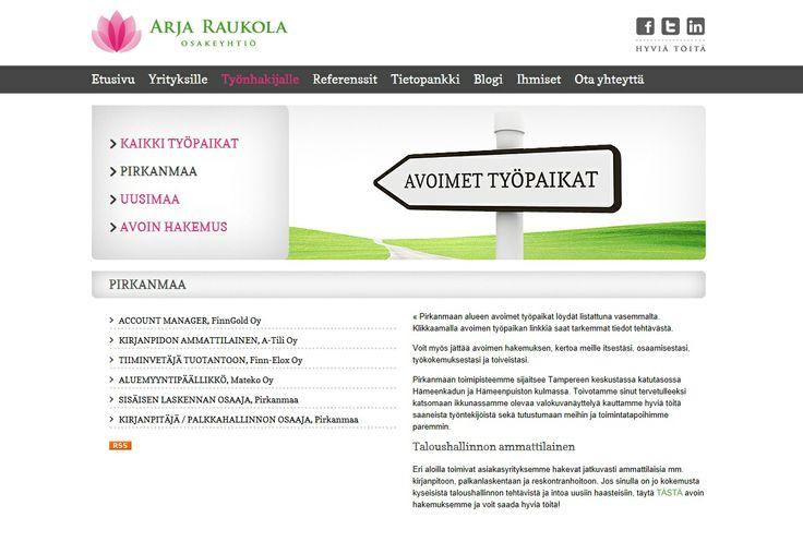 Projektiassistentin työ alkaa marraskuussa. Toimipiste on Koja Oy:n Tampereen pääkonttorilla. Lähetä hakemuksesi ja ansioluettelosi viimeistään 27.10.2013 mennessä osoitteessa www.raukola.fi. Voit hakea myös LinkedIn-profiilillasi. Lisätietoja tehtävästä antaa rekrytointikonsultti Minna Luiro/Arja Raukola Oy, p. 0400 710 141.