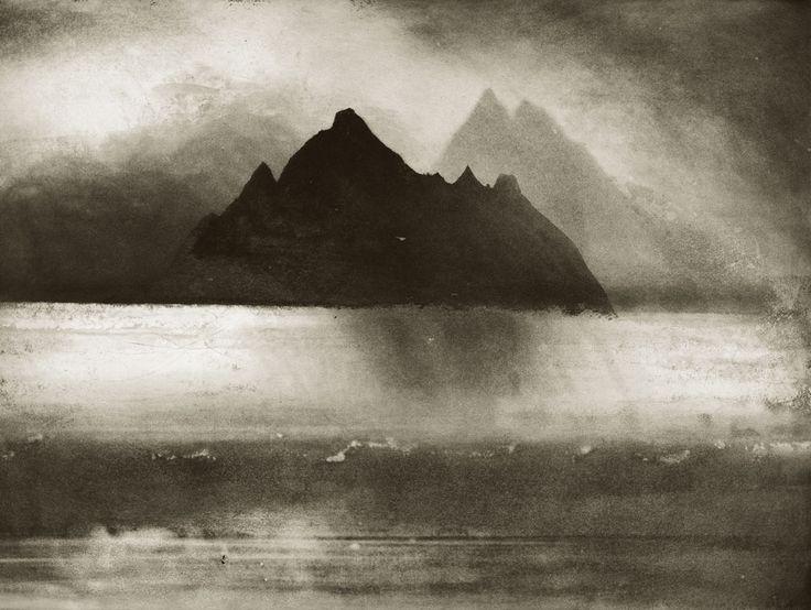 Skellig Rocks, County Kerry.  Etching by Norman Ackroyd