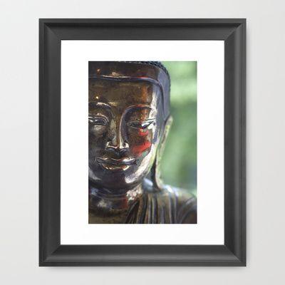 Buddha with a blush Framed Art Print