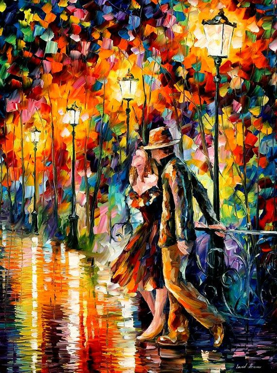 Tempter — PALETTE KNIFE Oil Painting On Canvas By Leonid Afremov #afremov #leonidafremov #art #paintings #fineart #gifts #popular #colorful