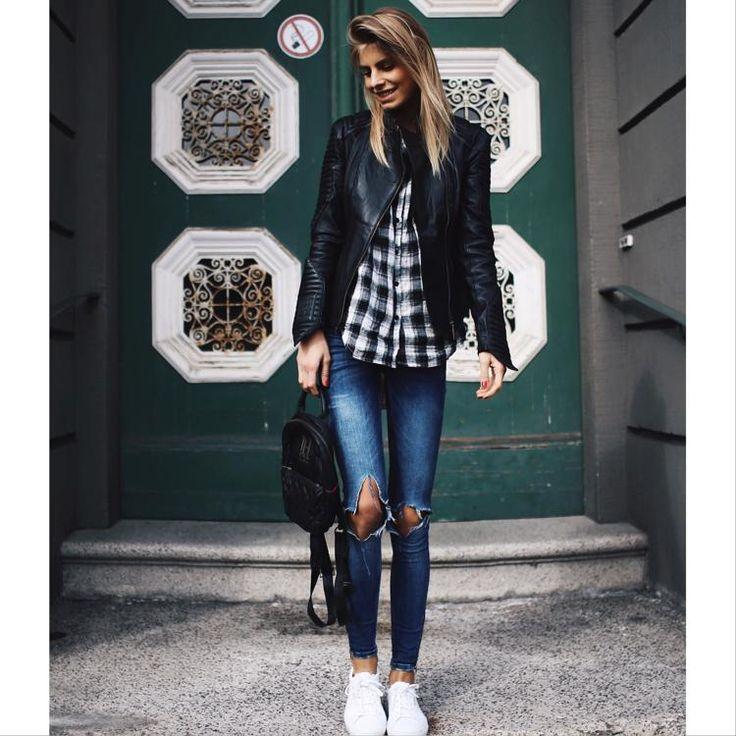 Blue Jeans + Leather= ❤️ by debiflue