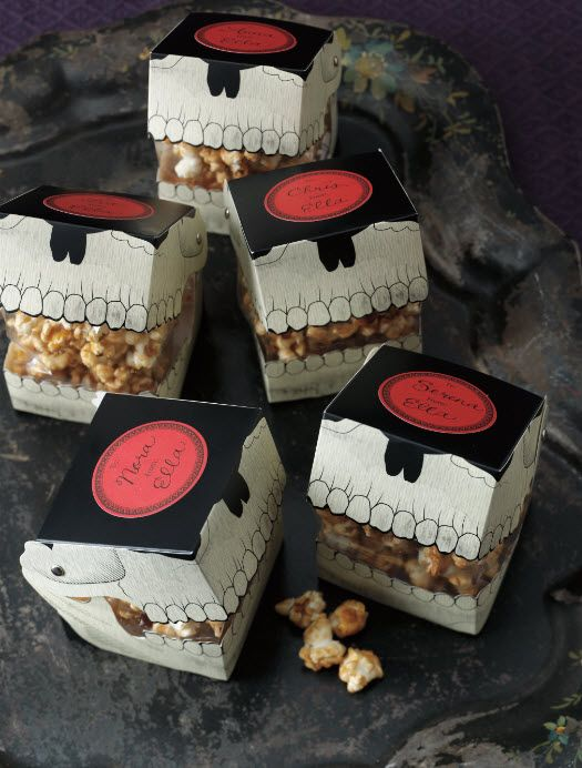martha stewart crafts gothic manor collection halloween skull treat boxes use these decorative boxes from martha stewart to transform your homemade - Martha Stewart Halloween Cakes
