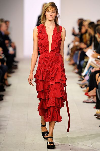 A model walks the runway at the Michael Kors Spring Summer 2016 fashion show during the New York Fashion Week on September 16 2015 in New York City