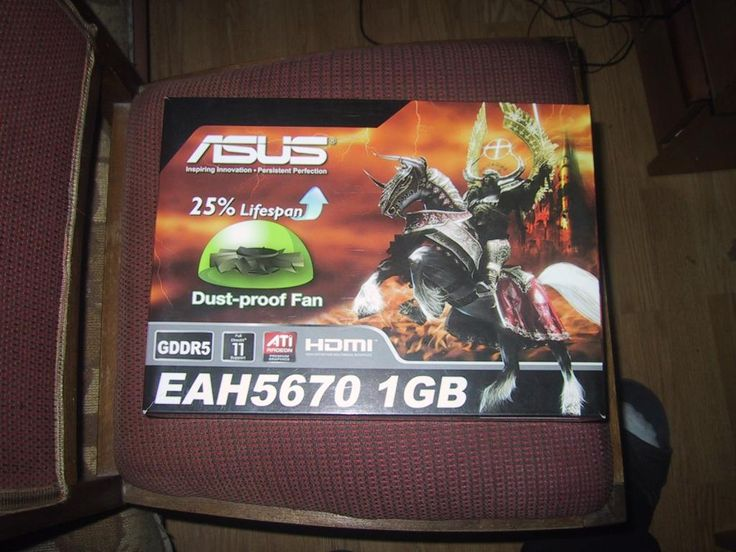 Asus amd radeon 5670 1gb ddr5 BOX
