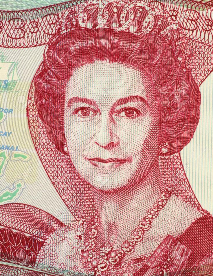 Banque d'images - La Reine Elizabeth II (1926-) sur le billet de 3 Dollars ..