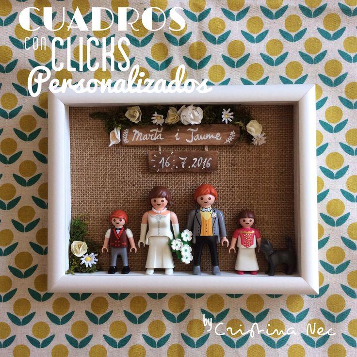 cuadro boda de playmobil | manualidades, regalar dinero
