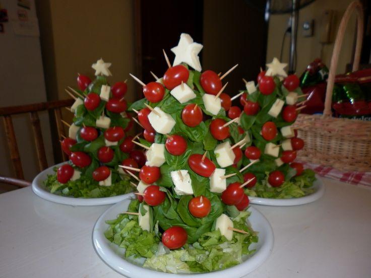 Arbolitos navideños capresse. Centros de mesa.