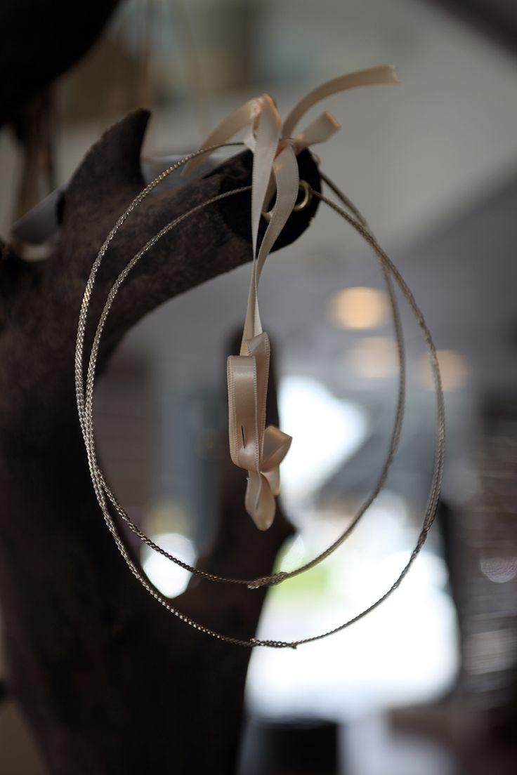 Στέφανα γάμου διβεργα με στριφτό χρυσο ασήμι σύρμα Atelier Zolotas #ThisIsHandmade