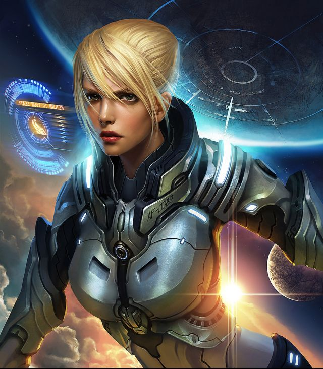 Space And Scifi Things With Zmodeler: Emergency Picture (2d, Sci-fi, Illustration, Girl, Woman