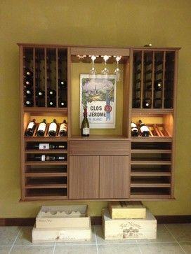 "Kessick Wine Cellars ""Select Series"" wall installed floating wine racks"