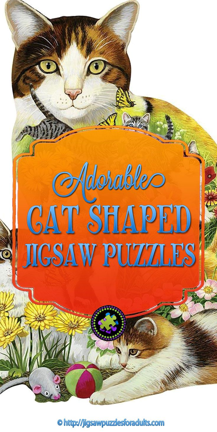 Adorable Cat Shaped Jigsaw Puzzles loaded with cats and kittens. You'll find plenty of shaped jigsaw puzzles with cats and kittens and plenty of round cat shaped jigsaw puzzles.